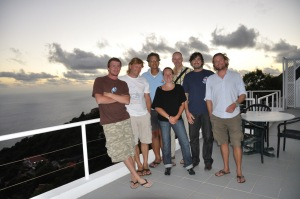 Left to right: Médéric Mainson, Kai Wulf, Paul Hoetjes, Marine Fumaroli, Erik Meesters, Jean-Phillipe Maréchal, Gregoor van Laake (Ramon de Leon from Bonaire not in photo)