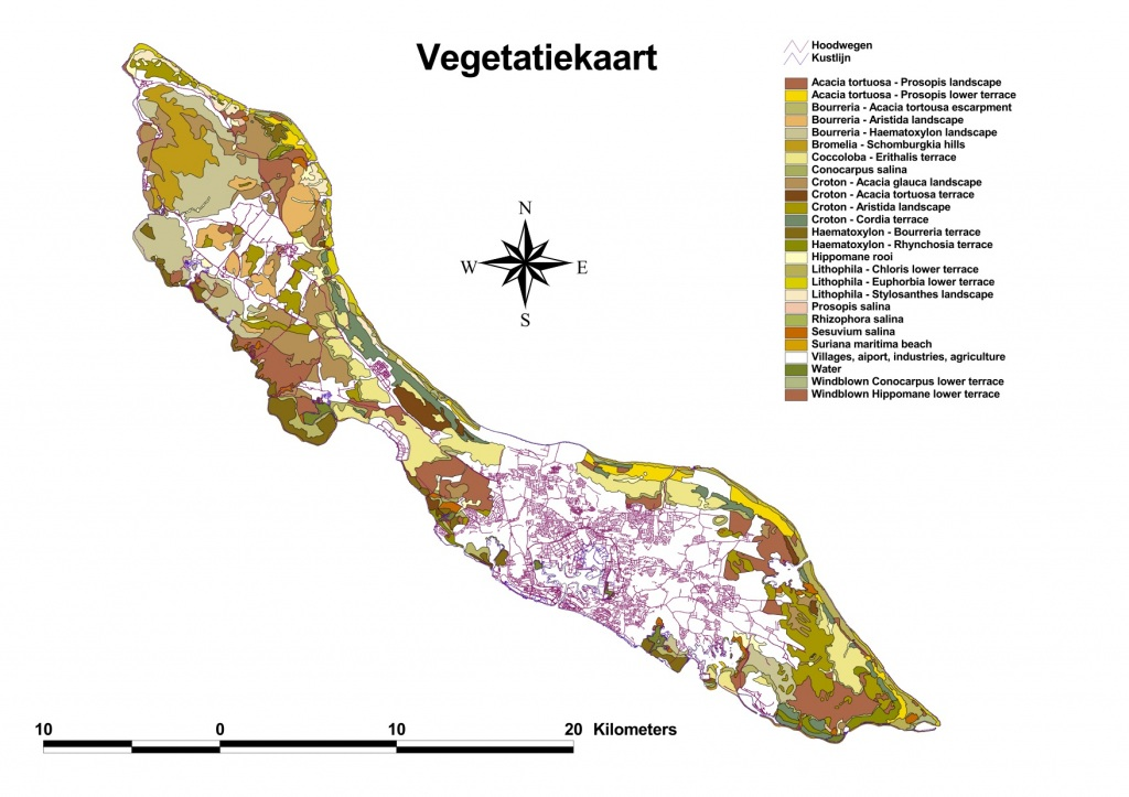 Vegetation Map of Curacao