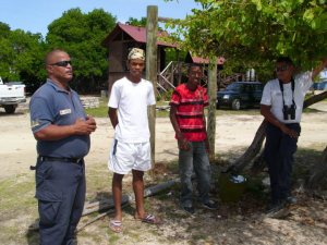 STINAPA's Chief Marine Park Ranger, the two recent graduates and a previous Junior Ranger (current Marine Park Ranger)