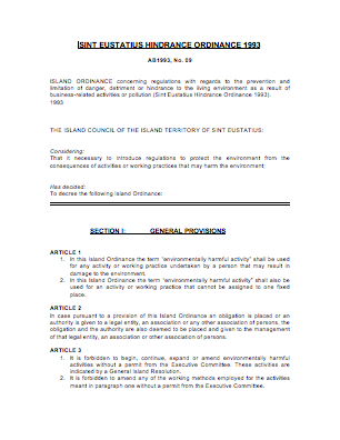 C2- Statia HindranceOrdinance -AB1993-09