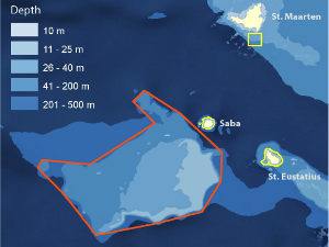 Saba Bank map