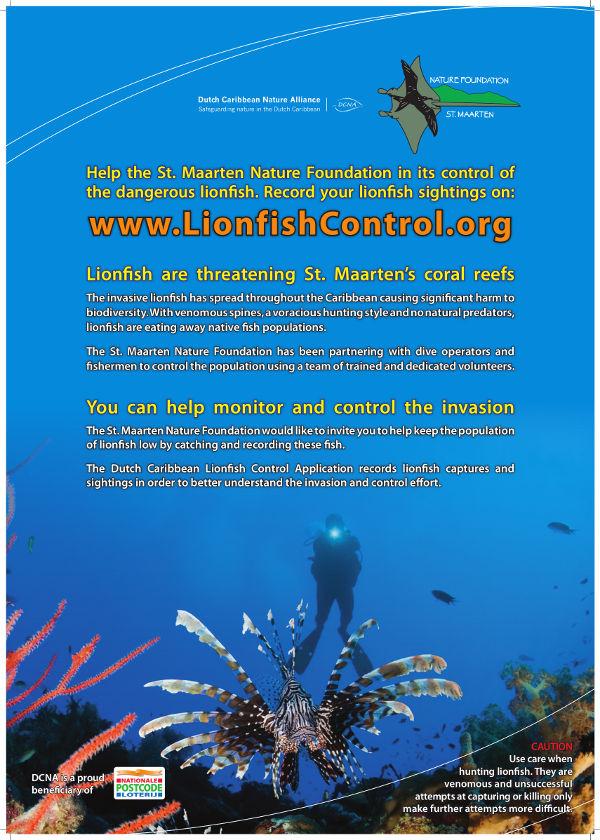 lionfish posterA2 SXM