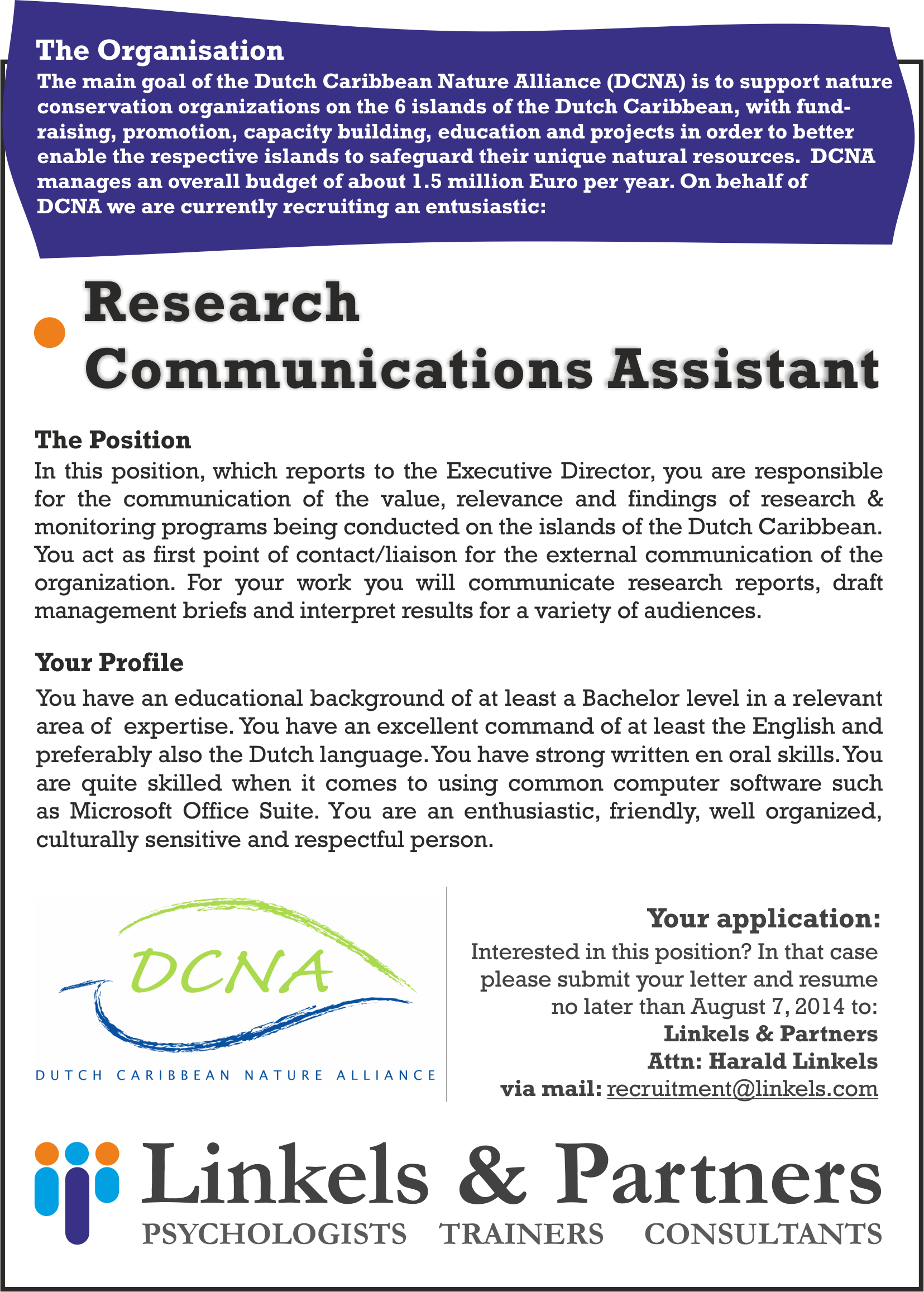 werving communication assistant