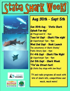 Statia shark week poster